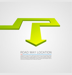 direction of the trajectory path vector image