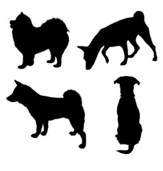 Dogs silhouette 2 vector