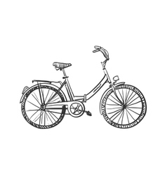 doodle bicycle vector image vector image
