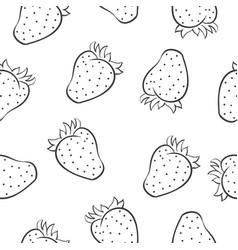 Doodle of strawberry fruit hand draw vector