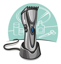 Electric hair clipper vector