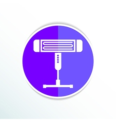 Electric heater light icon energy vector image vector image