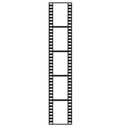film strip isolated vector image