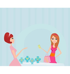 Girl and jewellerys vector image vector image