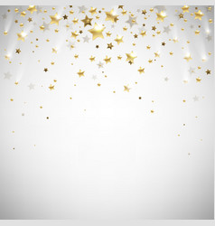Golden falling stars vector