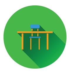 Icon of Table and chair vector image vector image