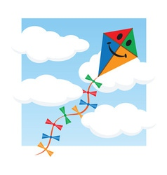 Kite in the sky vector image vector image