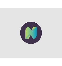 Letter N logo icon design vector image vector image