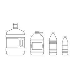 line bottles for water vector image vector image