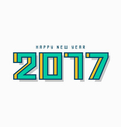 modern 2017 happy new year lettering design vector image vector image