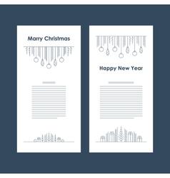 New Year Christmas card template Xmas minimalistic vector image vector image