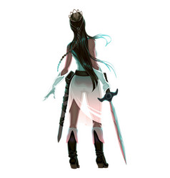 Princess warrior with sword vector