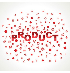Product word with in alphabets vector image vector image