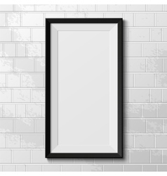 Realistic frame isolated on white background vector image