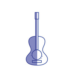 Silhouette guitar acoustic intrument of music vector