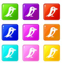 Social network bird set 9 vector