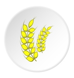 Spikelets of wheat icon cartoon style vector image vector image