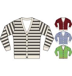 stripe sweatshirt template vector image vector image