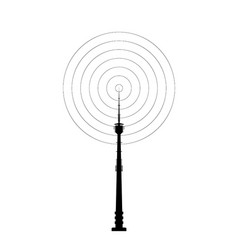 telecommunications tower icon vector image