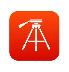 Tripod icon digital red vector