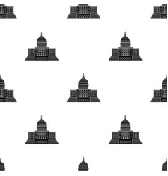 United states capitol icon in black style isolated vector