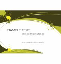 yellow grunge vector image vector image
