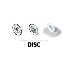 Disc icon in different style vector image