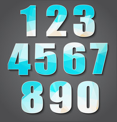 Set polygon numbers from 0 to 9 vector image