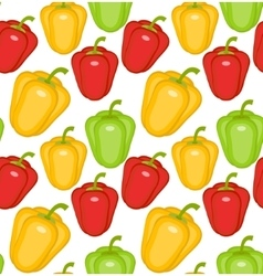 Bulgarian pepper seamless pattern paprika yellow vector
