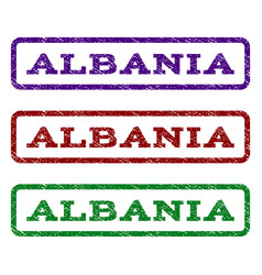 Albania watermark stamp vector