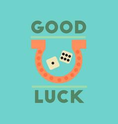 Flat icon on stylish background poker good luck vector