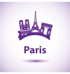 Silhouette of paris city skyline vector