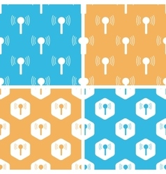 Signal beacon pattern set colored vector