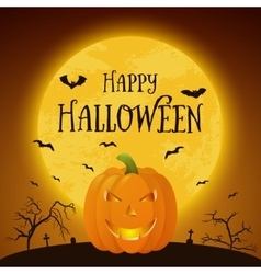 Happy halloween pumkin background vector