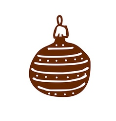 Hand drawn christmas bauble vector