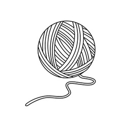 Yarn ball vector