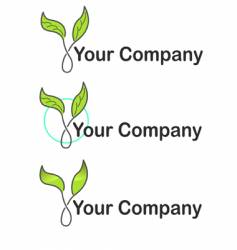 your company ecology logo vector image