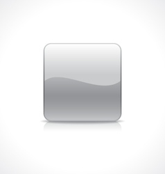 Square silver button vector