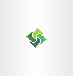 Green business square logo element sign vector