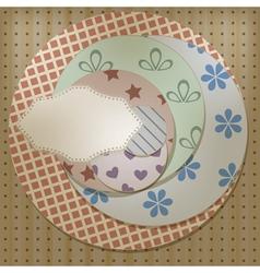 Lacy napkin vector
