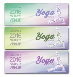Yoga event banners vector