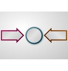 a circle arrows vector image vector image