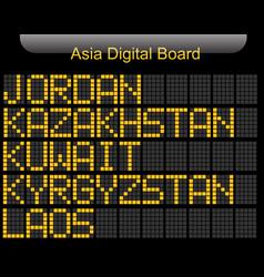 Asia country digital board information vector