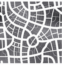black and white map of city seamless pattern vector image vector image