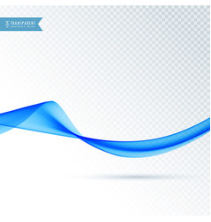 Blue flowing smooth wave background vector
