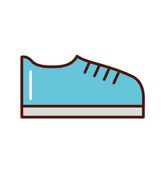 brightly shoe cartoon vector image vector image
