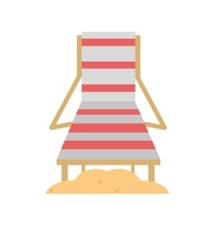 Chair beach wooden and sand vector