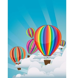 Colorful hot air balloons2 vector