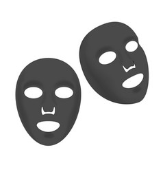 cosmetic facial black sheet mask set vector image vector image