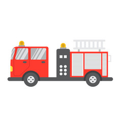 fire engine flat icon transport and vehicle vector image